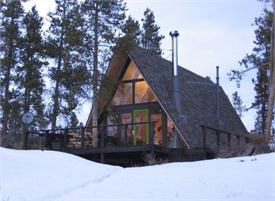 fully furnished modern a frame cabin mountain short term rental just outside winter park colorado